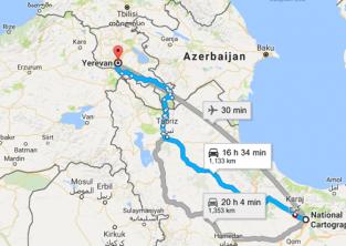 سفر زمینی با خودرو یا اتوبوس به ارمنستان