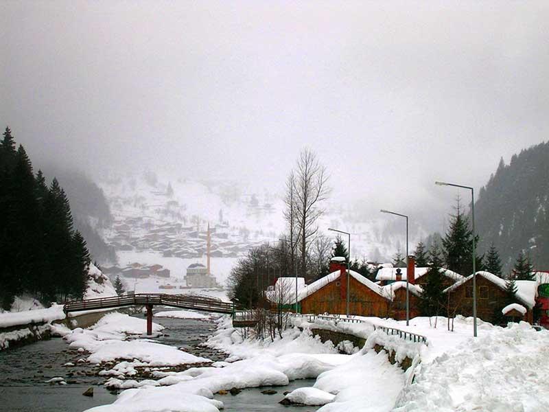 روستای اوزون گل در زمستان