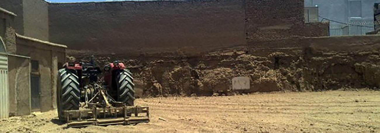 تخریب کاروانسرای قاجاری در تعطیلات عید فطر