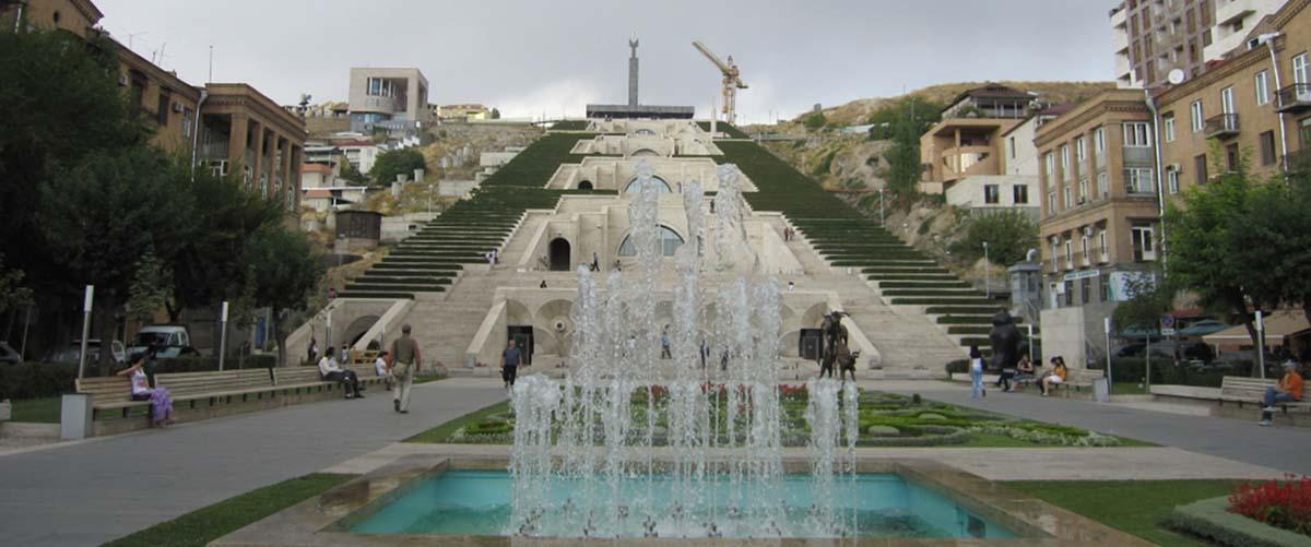 کاسکاد یا بنای هزار پله ارمنستان